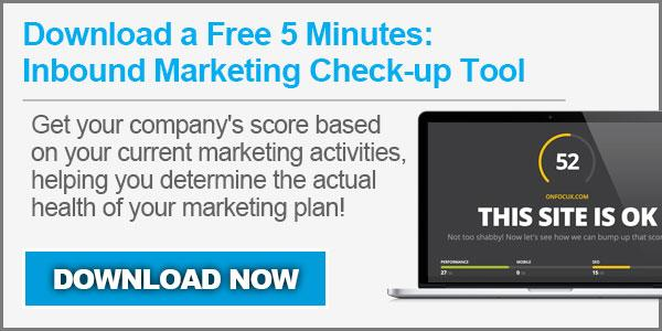 Inbound Marketing Checkup Tool