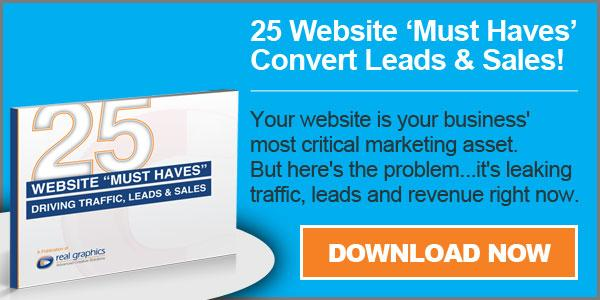 "25 Website ""Must Haves"" Convert Leads & Sales"