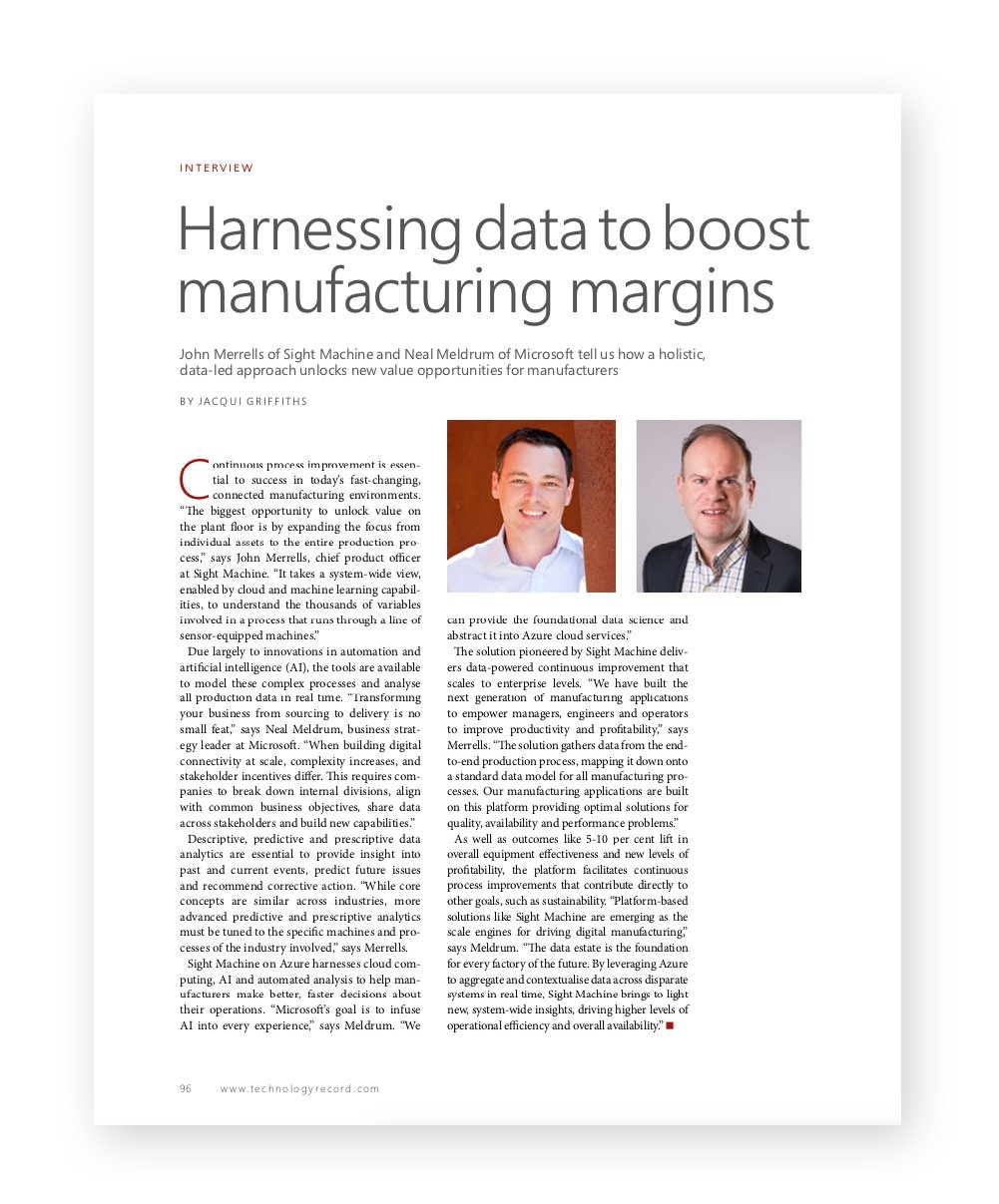 The Record Harnessing Data to Boost Manufacturing Margins