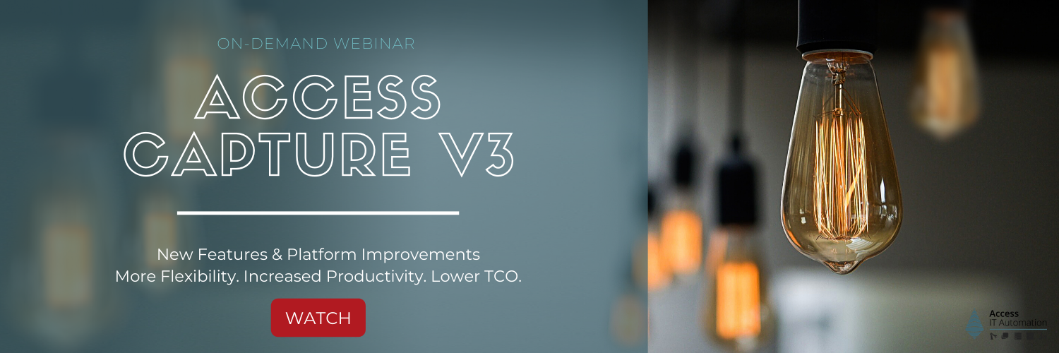 Sign up for the Access Capture V3 Launch Webinar