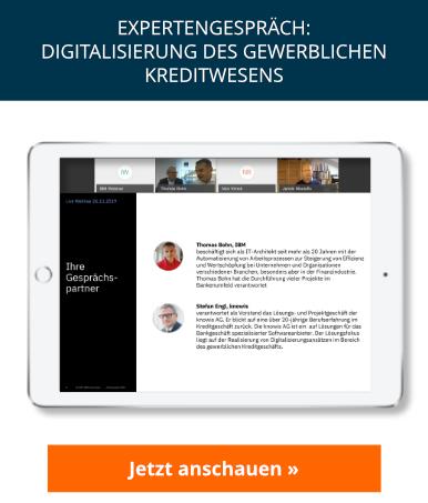 Expertengespräch: Digitalisierung des gewerblichen Kreditwesens
