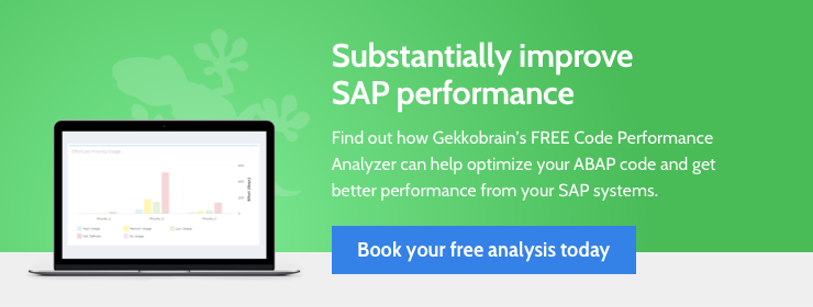 Improve SAP performance by up to 50% with the FREE Gekkobrain Code Performance Analyzer