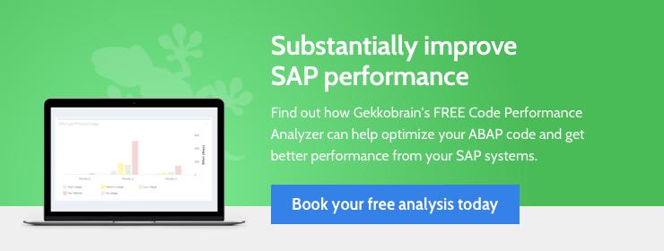 Improve SAP performance by up to 50% with the FREE Gekkobrain Code Performance Analyzer