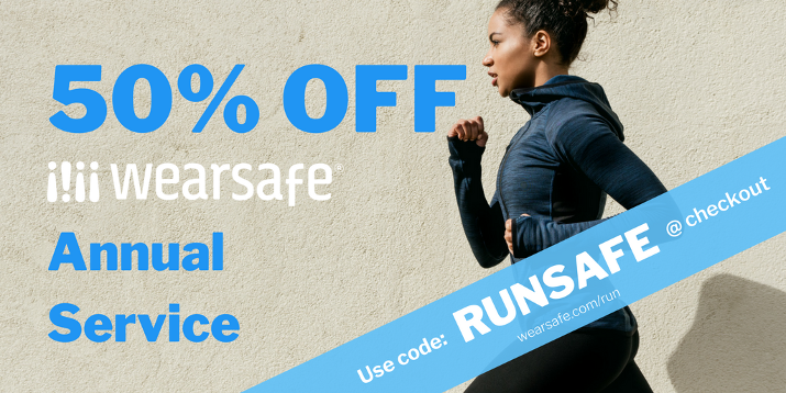 50% off Wearsafe Annual Service Coupon