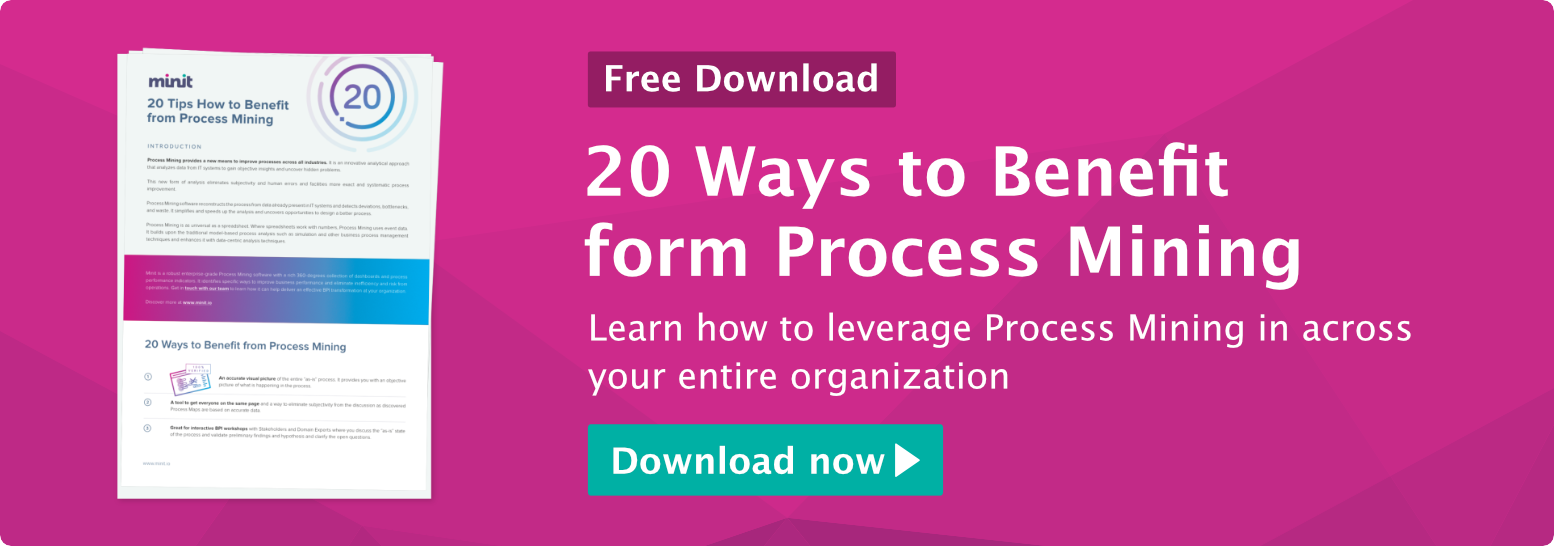 20 Ways to Benefit from Process Mining