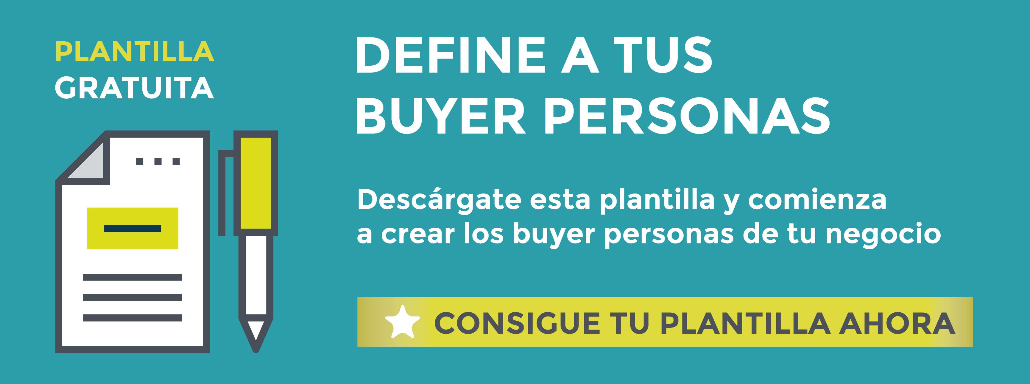 Descarga gratis la plantilla para crear tus buyer personas