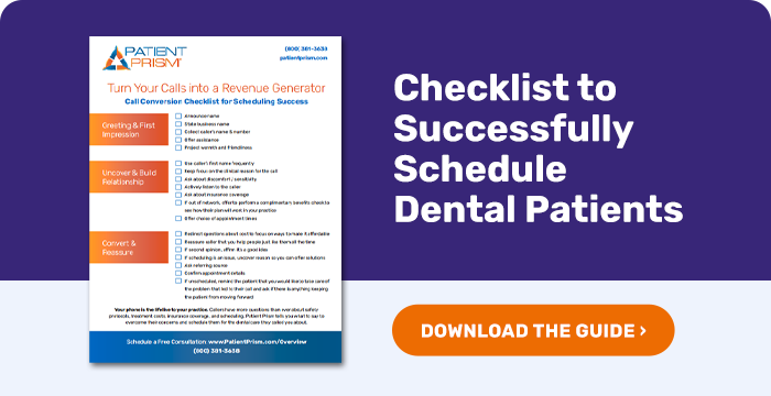 Phone Call Checklist to Successfully Schedule Dental Patients