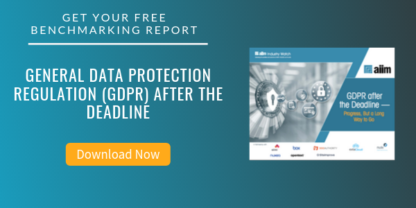 Free Report: General Data Protection Regulation (GDPR) After the Deadline