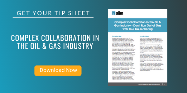Free Tip Sheet: Complex Collaboration in the Oil & Gas Industry
