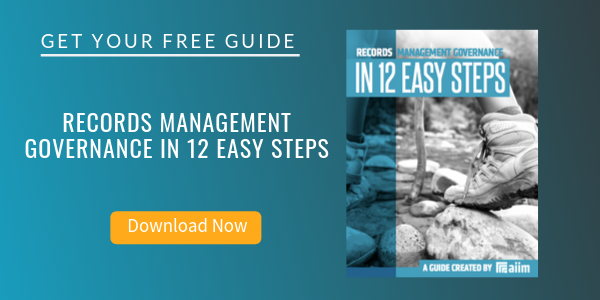 Free Guide: Records Management Governance in 12 Easy Steps