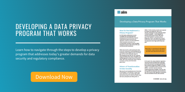 Free Tip Sheet: Developing a Data Privacy Program That Works