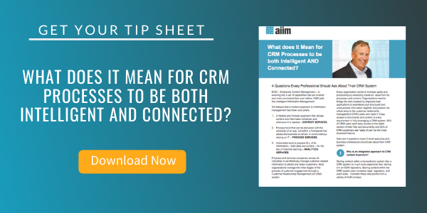 Free Tip Sheet: What does it Mean for CRM Processes to be both Intelligent AND Connected?