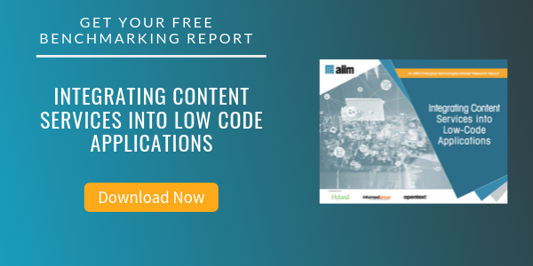 Free Report: Integrating Content Services into Low Code Applications