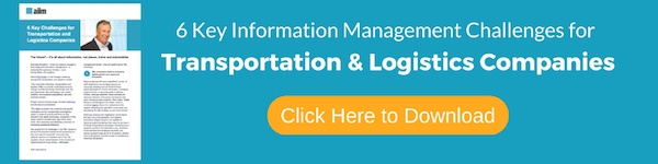 Click to Download '6 Key Information Management Challenges for Transportation & Logistics Companies'