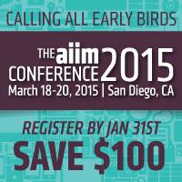 Join us at #AIIM15