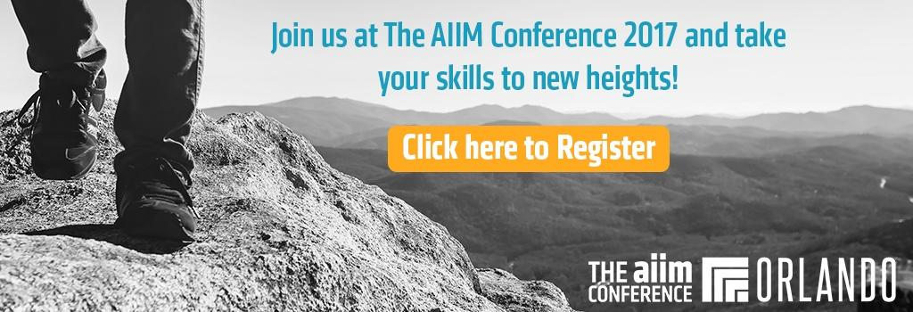 Click to register for The AIIM Conference 2017