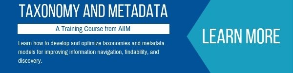 AIIM's Taxonomy and Metadata Training Course