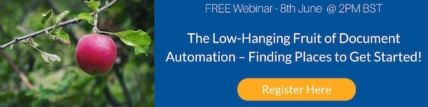 Click to Register for 'The Low-Hanging Fruit of Document Automation – Finding Places to Get Started'