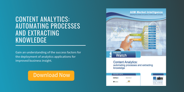 Free Report: Content Analytics - Automating Processes and Extracting Knowledge