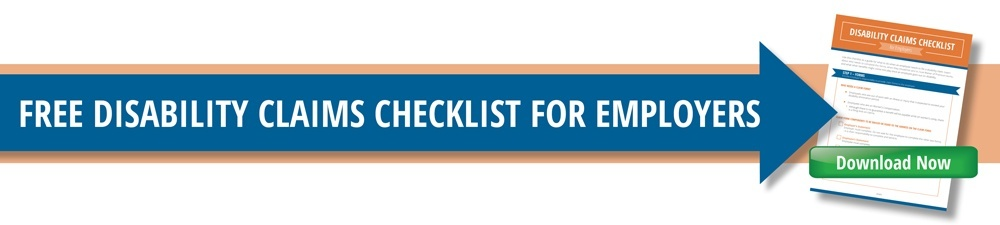 Click to Download FREE Disability Claims Checklist for Employers