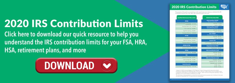 Click to Download the 2020 IRS Contribution Limits Infosheet