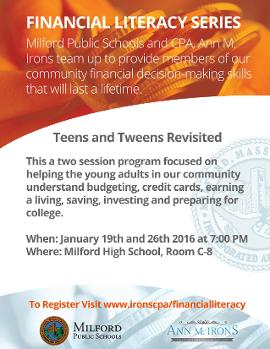 financial literacy in milford ma