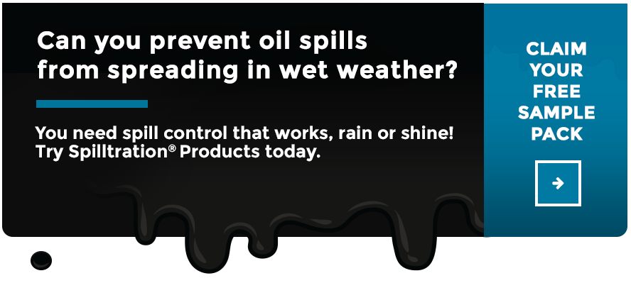 Can you prevent oil spills from spreading in the rain? Click here to claim your FREE Sample Pack now!