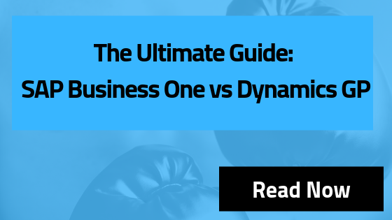 SAP Business One vs Dynamics GP