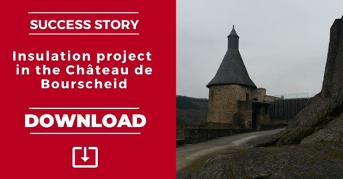 Insulation project in the Chateau de Bourscheid - Success Story