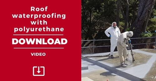 Roof waterproofing with polyurethane Urespray F-75 - Download video