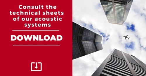 Download our technical sheets of acoustic systems