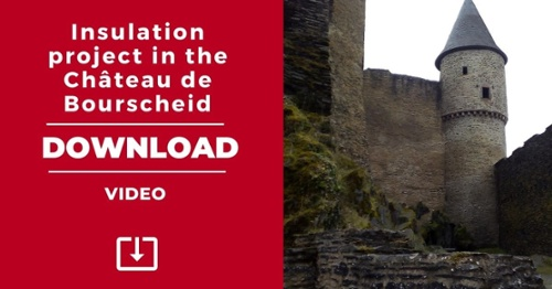 Download Insulation project in the Chateau de Bourscheid - Video