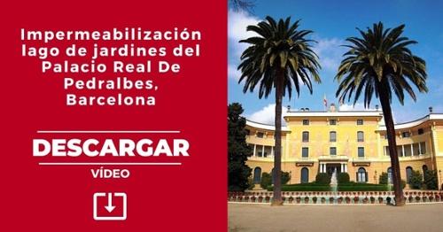 Impermeabilización lago de jardines del Palacio Real de Pedralbes, Barcelona