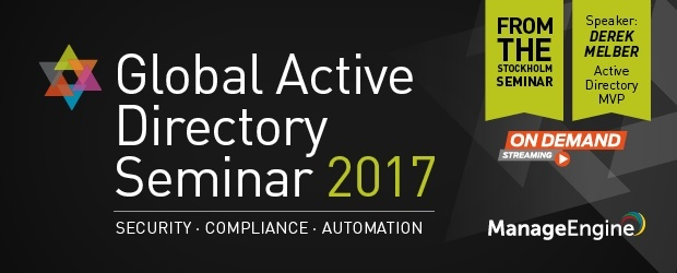 ManageEngine Global Active Directory Seminar 2017