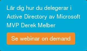 Lär dig delegera i Active Directory