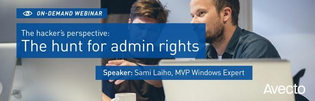 View the on-deamd webinar The hacker's perspective: The hunt for admin rights