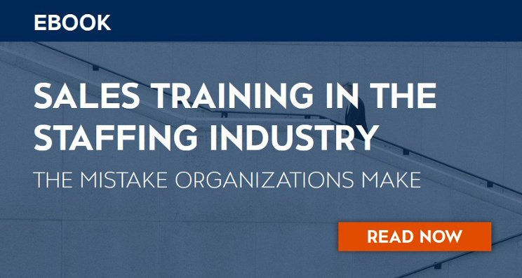 Download our ebook on sales training and the staffing industry