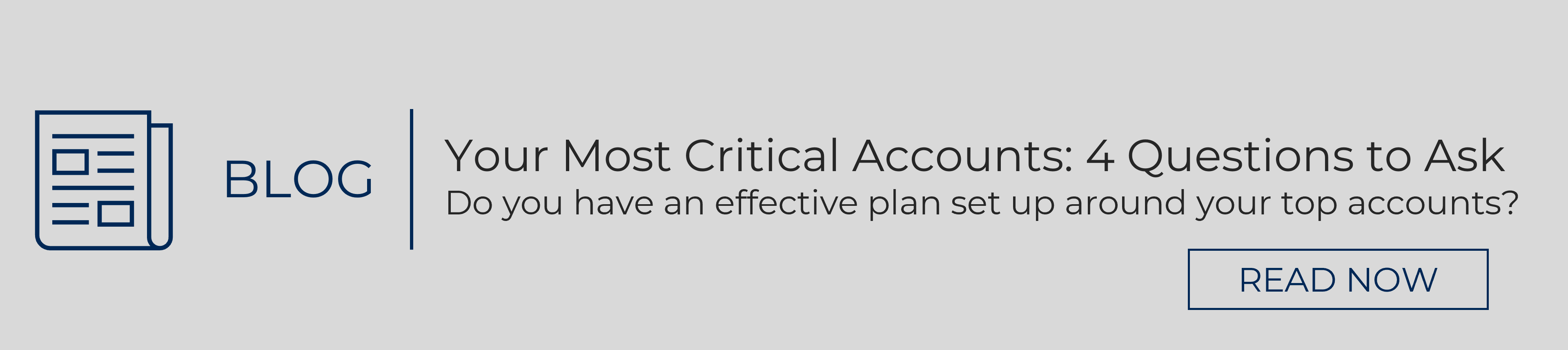 Blog banner to blog: Your Most Critical Accounts 4 Questions to Ask