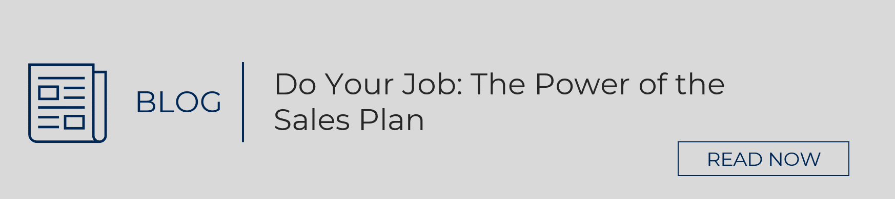 Read Blog: The Power of the Sales Plan