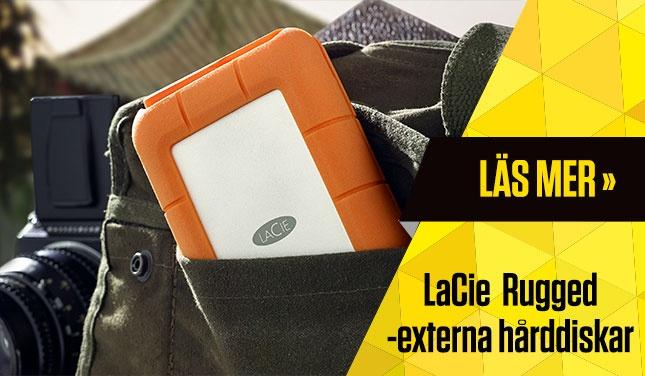 LaCie Rugged -externa hårddiskar