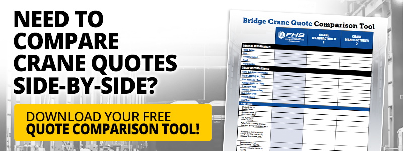 FHS bridge crane quote comparison tool