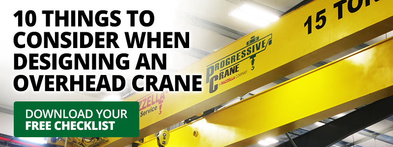 10 things to consider overhead cranes checklist