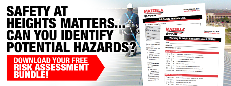 download your job safety analysis and working at heights risk assessment tools