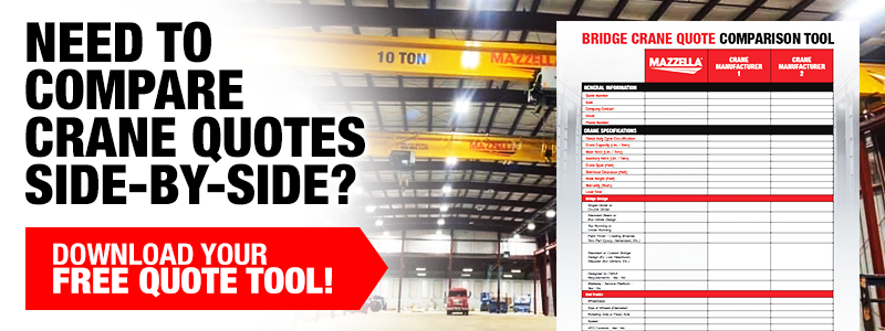 Free Bridge Crane Quote Comparison Tool