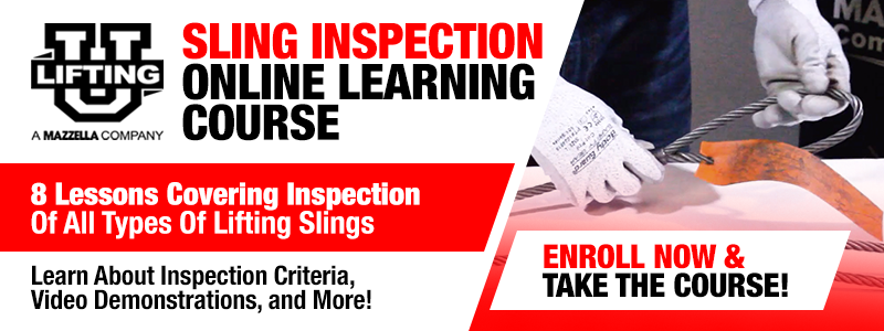 Lifting U - Online Sling Inspection Course