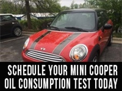 Schedule your Mini Cooper oil consumption test today