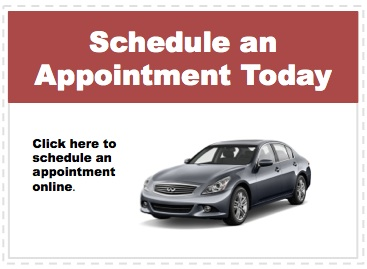 Make an appointment to service your Infiniti