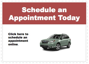 Make an appointment to service your Subaru