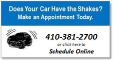 Make an appointment for your shaky car today