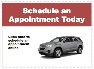 Make an appointment to service your Chevrolet